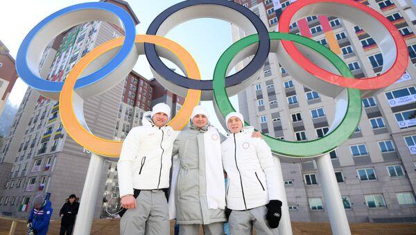 Russian athletes in the Pyeongchang Olympic Village - Sputnik International