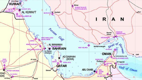 Persian Gulf map - Sputnik International