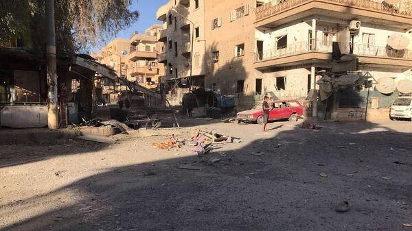 Aftermath of artillery attacks on Al-Qusur in Deir ez-Zor. File photo - Sputnik International