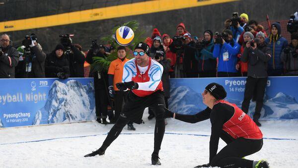 2018 Winter Olympics. Snow volleyball at Austria House - Sputnik International