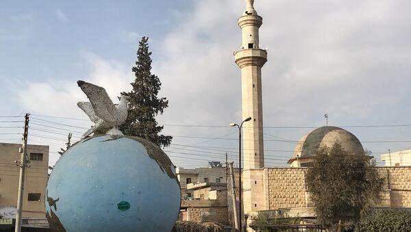 Central square of the Syrian city of Afrin - Sputnik International