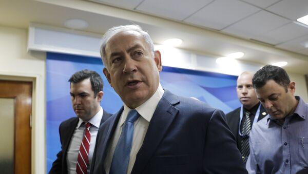 Israeli Prime Minister Benjamin Netanyahu arrives for a cabinet meeting in Jerusalem, Wednesday, Jan. 3, 2018 - Sputnik International