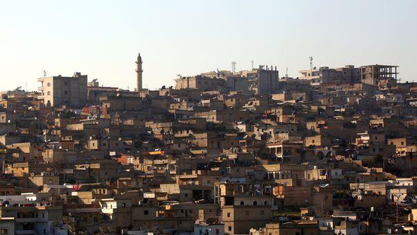 A general view shows the Syrian Kurdish enclave of Afrin - Sputnik International