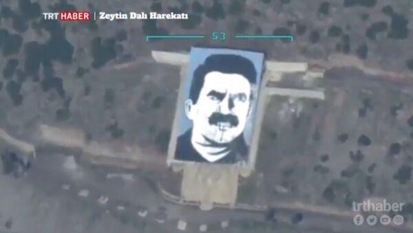 Turkish UAV destroys PKK leader portrait in Afrin - Sputnik International