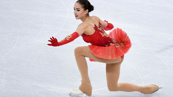 Olympic Athlete from Russia Alina Zagitova performing her free program during the women's team figure skating competition at the XXIII Olympic Winter Games in Pyeongchang - Sputnik International
