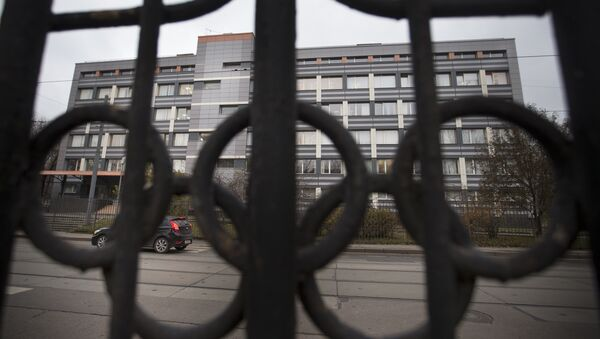 In this Friday, Nov. 13, 2015, file photo a car stands is front of Russia's national drug-testing laboratory in Moscow, Russia. It was at this laboratory, and its former site elsewhere in Moscow, that lab director Grigory Rodchenkov conducted pioneering research into steroids, at the same time as he says he was giving Russian athletes a cocktail of banned substances. - Sputnik International
