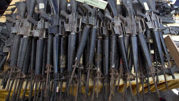 M-16 rifles (File) - Sputnik International