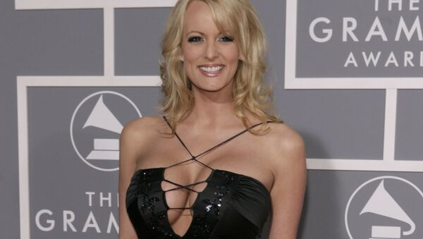 In this Feb. 11, 2007, file photo, Stormy Daniels arrives for the 49th Annual Grammy Awards in Los Angeles. - Sputnik International