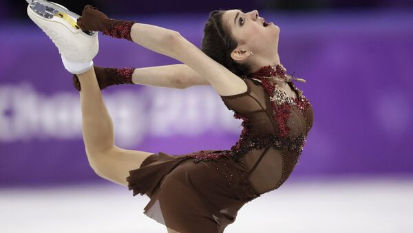 Evgenia Medvedeva of the Olympic Athletes of Russia performs during the women's free figure skating final in the Gangneung Ice Arena at the 2018 Winter Olympics in Gangneung, South Korea, Friday, Feb. 23, 2018. - Sputnik International