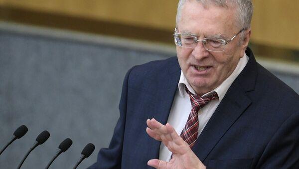 Liberal Democratic Party leader Vladimir Zhirinovsky speaks at a State Duma plenary meeting. - Sputnik International