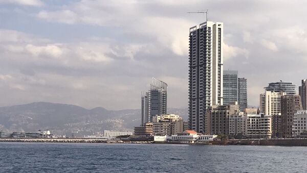 A view of the waterfront from the Mediterranean Sea, Beirut - Sputnik International