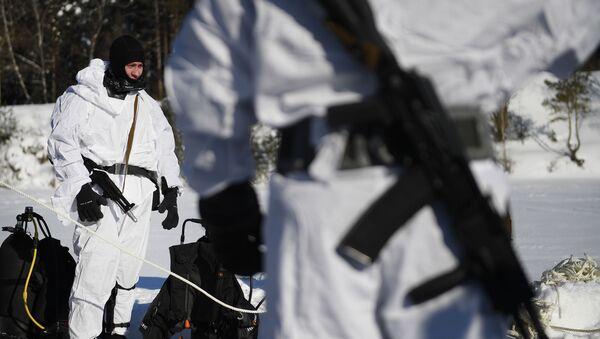Winter Combat Drills of Russian National Guard's Special Forces - Sputnik International