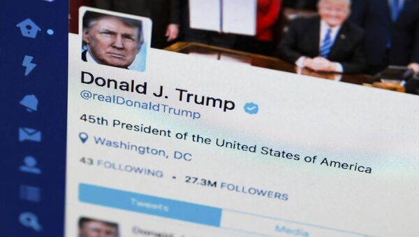This April 3, 2017, file photo shows U.S. President Donald Trump's Twitter feed on a computer screen in Washington - Sputnik International