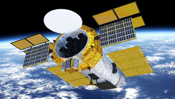 A mock-up of the Chinese Academy of Sciences' enhanced X-ray Timing and Polarimetry (eXTP) satellite, set for launch in 2025. - Sputnik International