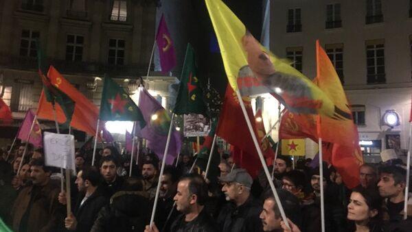 Pro-Kurdish demonstration in Paris - Sputnik International