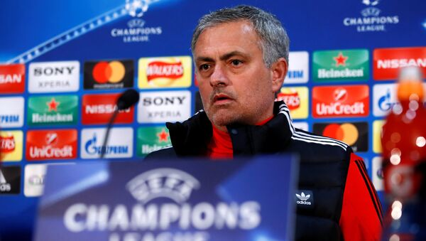Soccer Football - Champions League - Manchester United Press Conference - Old Trafford, Manchester, Britain - March 12, 2018 Manchester United manager Jose Mourinho during the press conference - Sputnik International