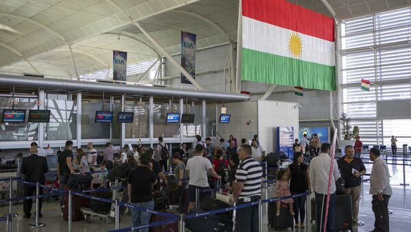 Travelers line up to check in at the Irbil International Airport, in Iraq, Wednesday, Sept. 27, 2017 - Sputnik International
