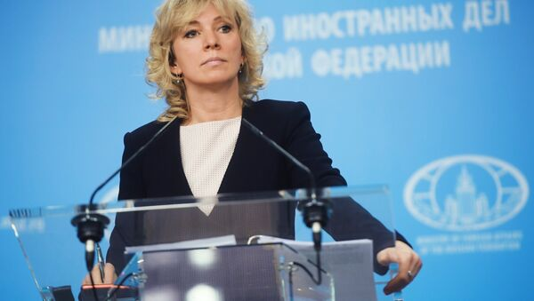 Russian Foreign Ministry Spokesperson Maria Zakharova during a briefing in Moscow - Sputnik International