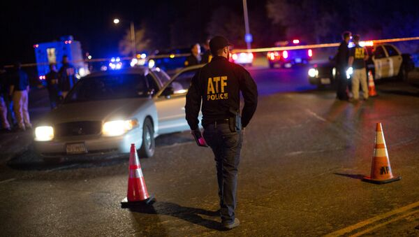 Authorities maintain a cordon near the site of an incident reported as an explosion in southwest Austin, Texas, U.S. March 18, 2018 - Sputnik International