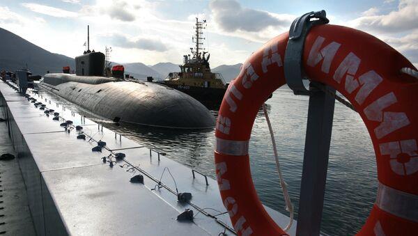 The Russian 955 Borei Vladimir Monomakh nuclear-powered submarine has arrived at its habitual base Vilyuchinsk in Kamchatka - Sputnik International