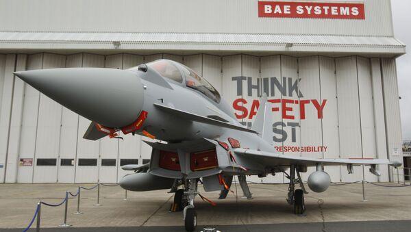 This is a Sept. 7, 2012 file photo of a Eurofighter Typhoon at BAE Systems, Warton Aerodrome, near Warton northwest England - Sputnik International