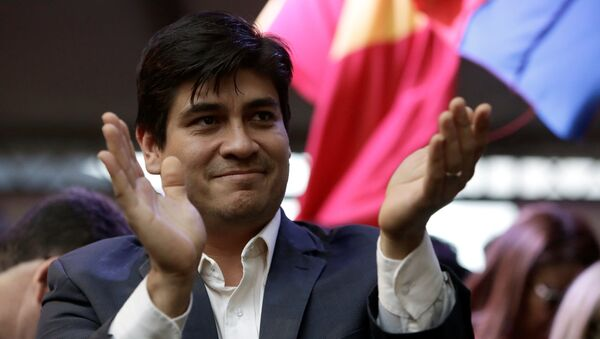 Presidential candidate of the ruling Citizens' Action Party (PAC), Carlos Alvarado - Sputnik International