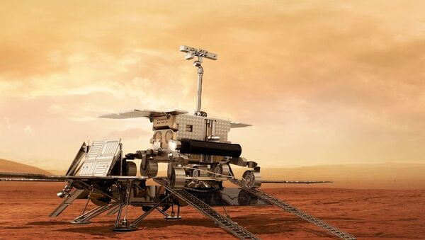 A model of the ExoMars rover to be used by the European Space Agency to drill on the Red Planet in 2020. - Sputnik International