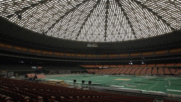 The Houston Astrodome, pictured in 2012, before the pitch was dug up - Sputnik International