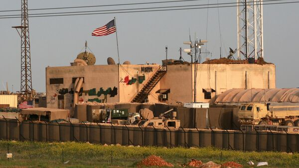 A picture taken on April 2, 2018 shows a general view of a US military base in the al-Asaliyah village, between the city of Aleppo and the northern town of Manbij - Sputnik International