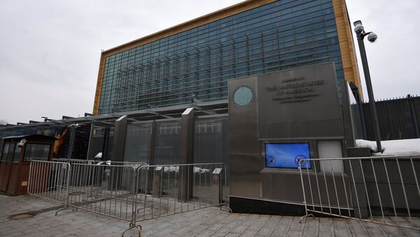 The US Embassy in Bolshoi Devyatinsky Pereulok, Moscow - Sputnik International