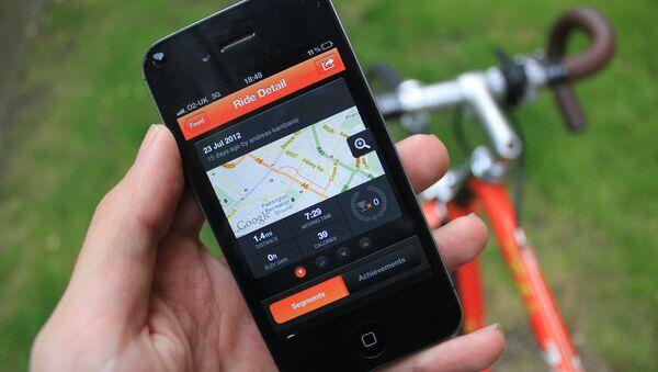 The Strava app shown on an iPhone - Sputnik International