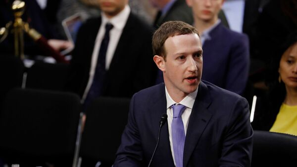 Facebook CEO Mark Zuckerberg testifies before a joint Senate Judiciary and Commerce Committees hearing regarding the company's use and protection of user data, on Capitol Hill in Washington, U.S., April 10, 2018 - Sputnik International