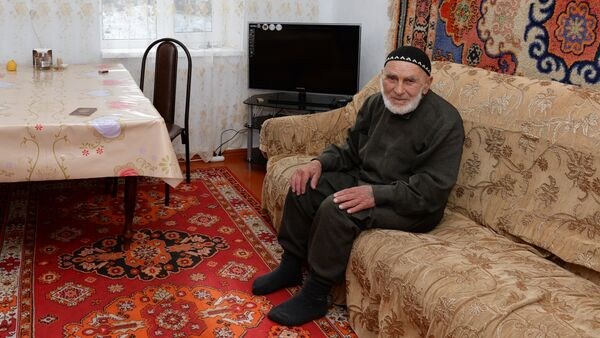 Centenarian Appaz Illiyev at home in the village of Guli, Dzheirakhsky district, Ingushetia. (File) - Sputnik International