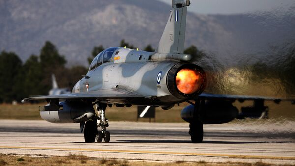 (File) An Mirage 2000-5 takes off at Tanagra Air Force base, north of Athens, Greece on Tuesday, Jan. 20, 2009 - Sputnik International