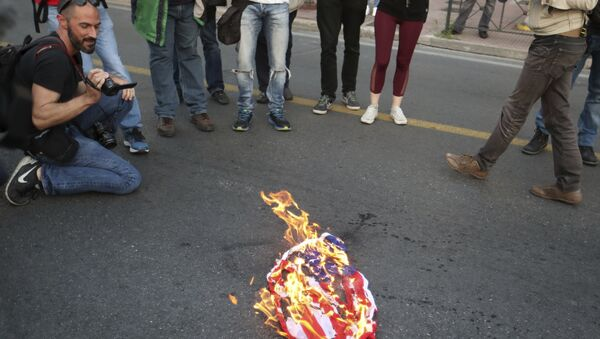 US Flag Burning - Sputnik International