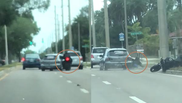 Florida Motorist Sideswipes Motorcyclist in Road Rage Incident - Sputnik International