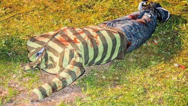Headless doll sits on meadow near Weinstadt, southern Germany - Sputnik International