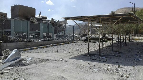 Damage of the Syrian Scientific Research Center which was attacked by U.S., British and French military strikes to punish President Bashar Assad for suspected chemical attack against civilians, in Barzeh, near Damascus, Syria - Sputnik International