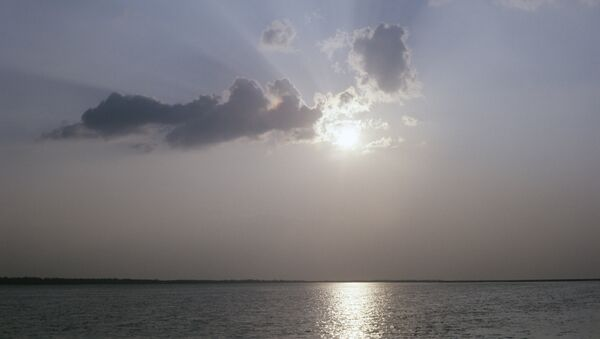 Sunset over the Amu Darya river - Sputnik International