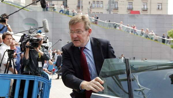 Belgium's Finance Minister Johan Van Overtveldt arrives for a meeting of eurozone finance ministers - Sputnik International