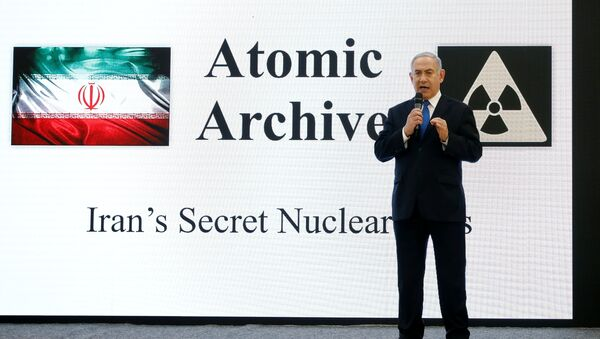 Israeli Prime minister Benjamin Netanyahu speaks during a news conference at the Ministry of Defence in Tel Aviv, Israel, April 30, 2018 - Sputnik International