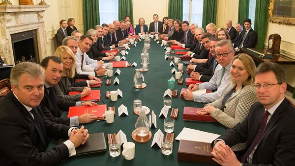 Britain's Prime Minister Theresa May leads her first cabinet meeting of the new year following a reshuffle at 10 Downing Street, London January 9, 2018 - Sputnik International