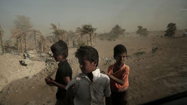 Homeless Children, Yemen - Sputnik International