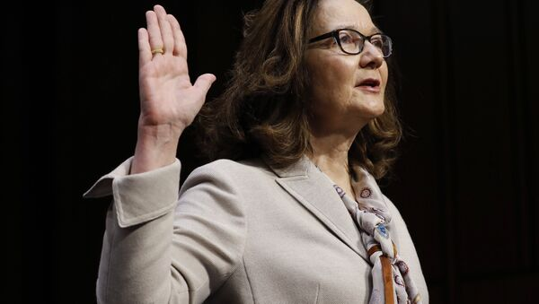 Acting CIA Director Gina Haspel is sworn in prior to testifying at her Senate Intelligence Committee confirmation hearing on Capitol Hill in Washington, U.S., May 9, 2018 - Sputnik International