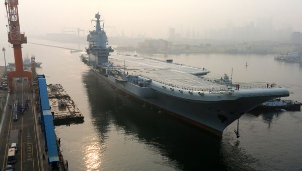 China's first domestically developed aircraft carrier departs Dalian, Liaoning province, China May 13, 2018 - Sputnik International