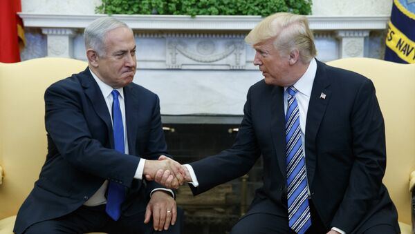 President Donald Trump meets with Israeli Prime Minister Benjamin Netanyahu in the Oval Office of the White House, Monday, March 5, 2018, in Washington - Sputnik International