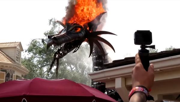 Disney World Parade Float Gets Unexpectedly Lit - Sputnik International