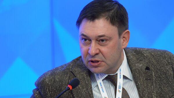 RIA Novosti Ukraine Website Editor-in-Chief Kirill Vyshinsky attends the 2015 Forum of European and Asian Media at the Agency's International Multimedia Press Center - Sputnik International