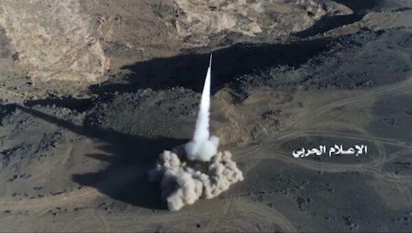 Yemeni missile force unveils Badr 1 - Sputnik International