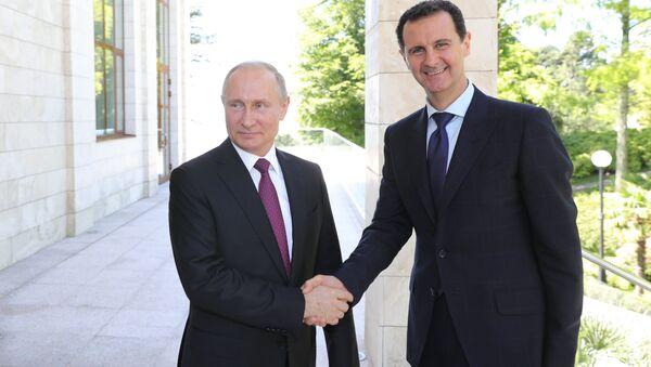 Russian President Vladimir Putin has met with his Syrian counterpart Bashar al-Assad - Sputnik International